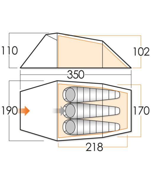 Vango Tempest 300 diagram
