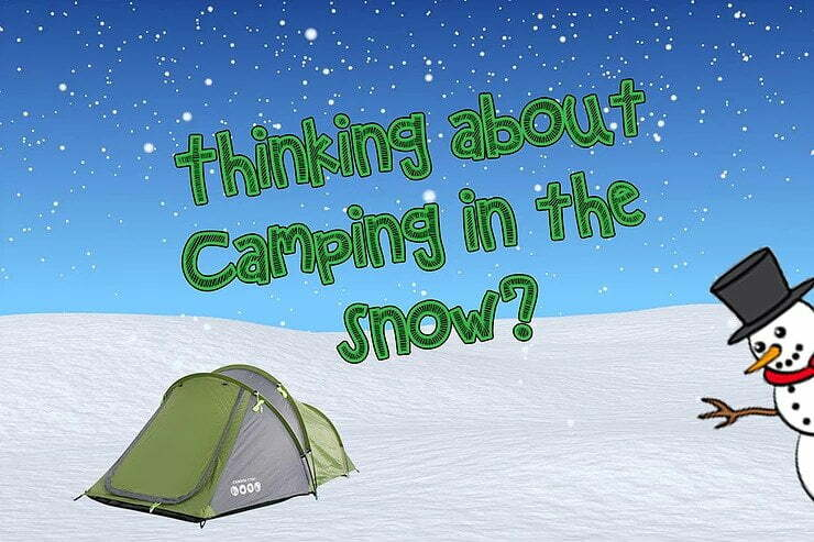 Tent in snow image